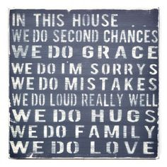 we do second chances.  we do loud really well.