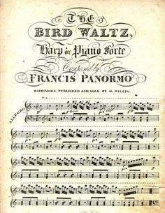 Bird Waltz - vintage sheet music