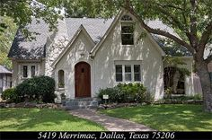 Painted Brick Cottage in Dallas, Texas