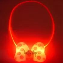 Collar Luminoso Led Moño Minnie Minie Mimi Fiesta Regalo Luz