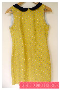 Sleeveless Colette Laurel with black Peter Pan collar