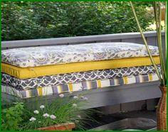 45 x 18 in. Outdoor Bench and Swing Cushion - contemporary - outdoor pillows - - by Hayneedle Outdoor Swing Cushions, Patio Bench Cushions, Cushions For Outdoor Furniture, Diy Terrasse, Outdoor Spaces, Outdoor Decor, Outdoor Ideas, Diy Patio, Porch Ideas