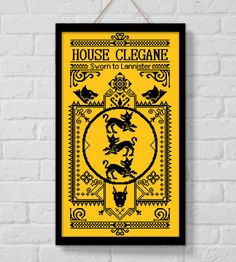 BOGO SALE, Cross stitch pattern, House Clegane, Cross stitch PDF, Game of Thrones, Instant Download, Needlework, Embroidery, Digital #147 by LolitaMade on Etsy
