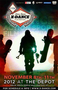 X-Dance Action Sports Film Festival this week in Salt Lake City November 8-11, 2012