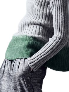 Gabriele Colangelo  --Knit a solid colored sweater then dip dye at hem or at shoulders