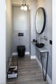 Długa i wąska toaleta dla gości