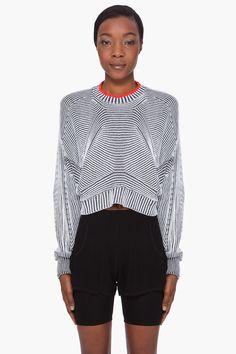 ALEXANDER WANG Cropped Tonal Sweater