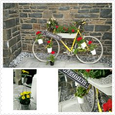 Bicycle them wedding