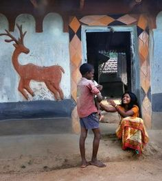 Santhals (a tribe) in and around Santiniketan (#myHome) have embraced creativity in daily life.