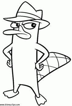 Disney Perry The Platypus In Online Phineas And Ferb Coloring Picture