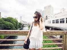 fashiontoast | 07/29/2013 a tokyo summer's day ASOS top, Isabel Marant shorts, Céline espadrilles and Barbara Bui bucket bag.