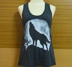 Tank Top Wolf Moon Shirt Strength Tee Unisex by BlackTeenFashion
