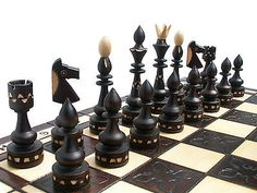 ''indian'' #wooden chess set 54x54cm! beautiful #crafted #chessboard & chessmen !,  View more on the LINK: 	http://www.zeppy.io/product/gb/2/141495016259/