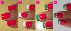 step by step. Cute Nails, My Nails, Watermelon Nail Art, Manicure E Pedicure, Nail Tutorials, Perfect Nails, Nail Arts, Crafts To Do, You Nailed It