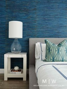Melida Williams Interior Design featured Braided Walls 3149 Pacific in the bedroom of a client's home.
