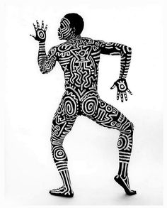 Tseng Kwong Chi_Bill T. Jones Body Painting with Keith Haring 5_1983