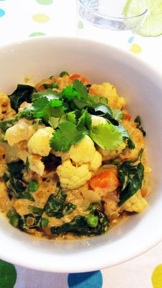 Cauliflower and Lentil Coconut Curry - Vegan and Gluten-Free leave out lentils