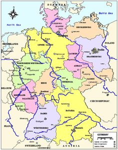 Germany River Map GERMANY RIVERS Pinterest Rivers Germany - Germany map labeled