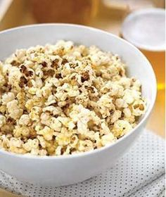 Popcorn With Brown Butter and Parmesan
