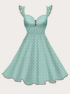 Rockabilly Clothing | New Design from BlueBerryHillFashions.com | mint green and white polka Dot with red trim. Super Cute Dress!