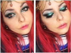 tutorial completo https://www.youtube.com/watch?v=O75HXr18UsE blue make up / maquillaje de noche azul turquesa maquillaje arabe