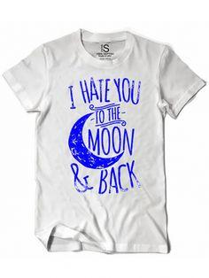 "Women's ""To The Moon"" Vintage Tee by Glitz Apparel (White) #InkedShop #tothemoonandback #wordtee #womenswear"