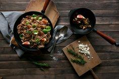 Kastaniennudeln mit Feigen und Walnüssen | Foodlovin'