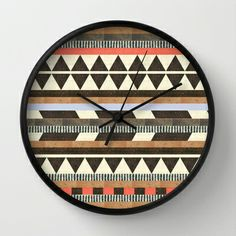 DG Aztec No.1 Wall Clock by Dawn Gardner - $30.00