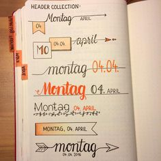 Bullet journal headers - Regardez cette photo Instagram de @maryj13 • 538 mentions J'aime Plus