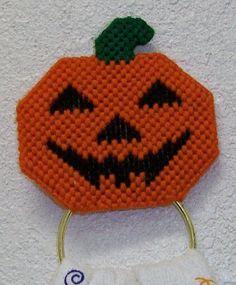 1643 Pumpkin Towel Holder by CraftsbyRandC on Etsy, $7.95