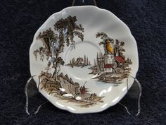 """Johnson Brothers The Old Mill Saucer 5 5/8 """" -  NICE! #JohnsonBros"""