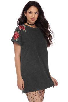 03daa1a798c7 Black Mineral Rose Tunic   WindsorCloud Final Sale, Shirt Dress, T Shirt,  Crew