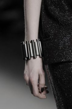 Brushed Silver Bangle - statement jewellery; fashion details // Damir Doma FW14