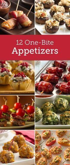 28 bite size party ready dessert recipes finger foods finger and these small appetizer bites are perfect for mixing and mingling at parties forumfinder Gallery