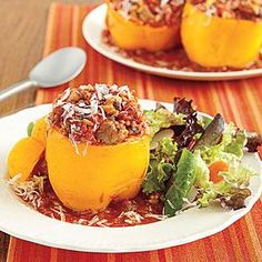 Stuffed with heart-healthy turkey, these stuffed peppers are both good and good for you!