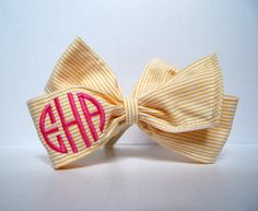 @Shannon De Leon - Shan, this has you written all over it!  monogram seersucker bow!