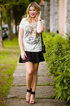 Look do dia: estampa de tigre