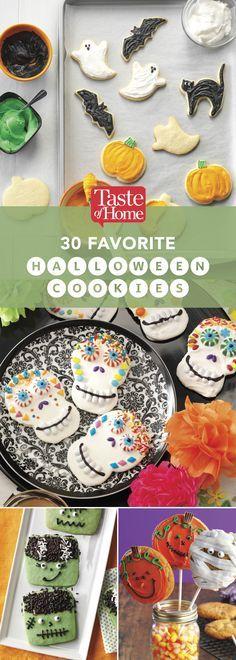 30 Favorite Halloween Cookies (from Taste of Home)