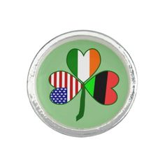 African American Shamrock Photo Ring  Designed by @auntieshoe, Found at http://www.zazzle.com/shamrockflags/gifts?cg=196704385845910767&rf=238656250999501047&tc=PinStPatsGuild