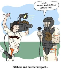 Pitchers and Catchers report . Giants Players, Lets Go Mets, Giants Baseball, Baseball Season, Detroit Red Wings, World Of Sports, Detroit Tigers, San Francisco Giants, Sports Humor