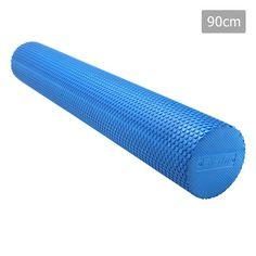 Yoga Gym Pilates EVA Stick Foam Roller Blue 90 x 15cm – Click Online Sales