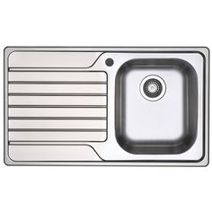 Blanco Sink Bunnings : Blanco Dinas 45cm Right Hand Bowl Single Tap Hole Drainer Inset Sink ...