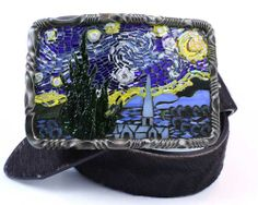 Beautiful glass mosaic belt buckle by artist, Paul Pearman of New School Mosaics. So many pretty buckles to chose from I have a hard time picking a favorite.