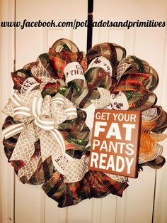 This, because I have a wicked sense of humor, is one of my favorite wreaths of all time. Even as simple as it was for me to do. I LOVE the sign. I can recreate this :)