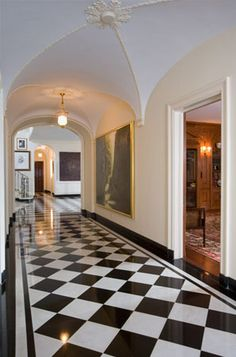 THIS OR THAT CHECKING IN ON TWO FOYER FLOORS Marble floor