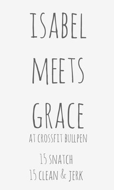 isabel meets grace crossfit wod for 50 states in a year