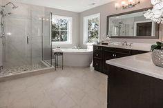 See more master bath designs. Dream Bathrooms, Beautiful Bathrooms, Modern Bathroom, Master Bathroom, Bathroom Ideas, Tile Bathrooms, Contemporary Bathrooms, Bathroom Design Layout, Bath Design