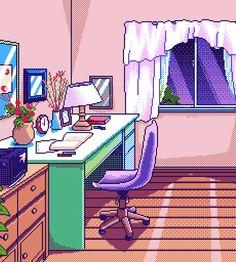 Pixel art: desk