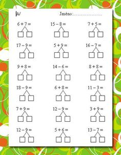Mental Maths Worksheets, Math Addition Worksheets, First Grade Math Worksheets, 1st Grade Math, Preschool Worksheets, Math Activities, Math School, Homeschool Math, Math For Kids