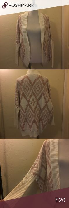 Cardigan. Ivory and a light pinkish color. The sleeves are tight so it has a slouchy look on the sides when worn. Has been worn, just don't like the style anymore. Charlotte Russe Other